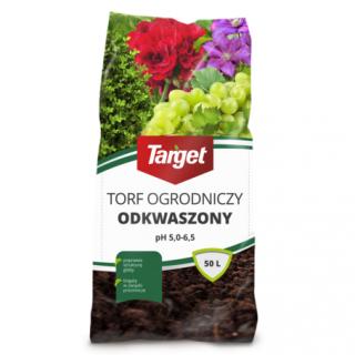 Torf ogrodniczy odkwaszony - pH 5,0 - 6,5 - Target - 50 litrów