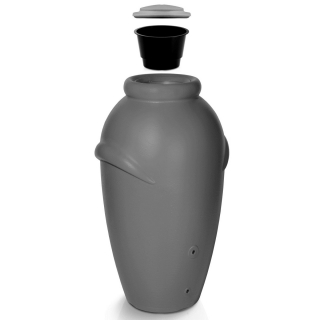 Zbiornik na deszczówkę z podstawą, pojemnik na wodę - Aqua Can - 210 l - szary - DOSTAWA GRATIS!