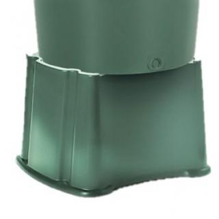 Zbiornik na deszczówkę z podstawą, pojemnik na wodę - Eco Tank - 200 l - zielony leśny - DOSTAWA GRATIS!