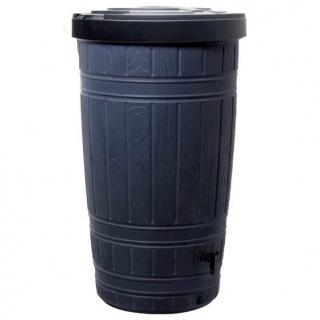 Zbiornik na deszczówkę z podstawą, pojemnik na wodę - Woodcan - 265 l - czarny - DOSTAWA GRATIS!