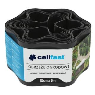 Obrzeże trawnikowe czarne - 10cm, 9m - CELLFAST