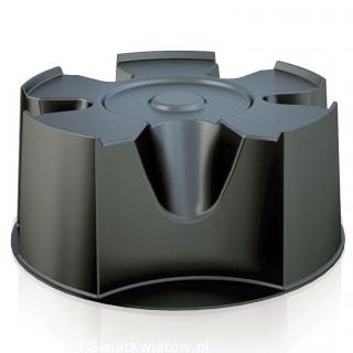 Zbiornik na deszczówkę z podstawą, kranem, zbieraczem wody i uzdatniaczem - Woodcan - 265 l - czarny - DOSTAWA GRATIS!