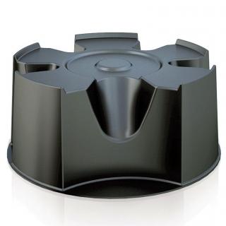 Zbiornik na deszczówkę z podstawą, pojemnik na wodę - Raincan - 210 l - czarny - DOSTAWA GRATIS!