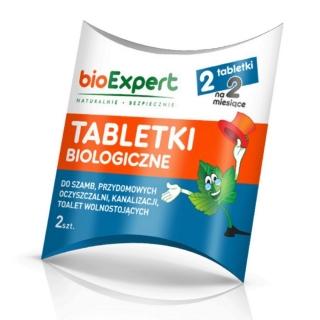 BIO Tabletki musujące do szamb, oczyszczalni przydomowych, kanalizacji - 2 tabletki