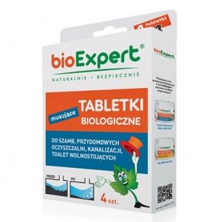 BIO Tabletki musujące do szamb, oczyszczalni przydomowych, kanalizacji - 4 tabletki