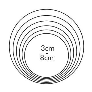 Wykrawacz okrągły - DELICIA - 6 szt.