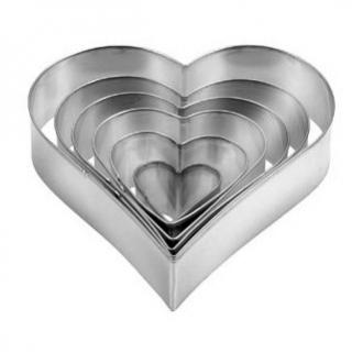 Wykrawacz serce - DELICIA - 6 szt.