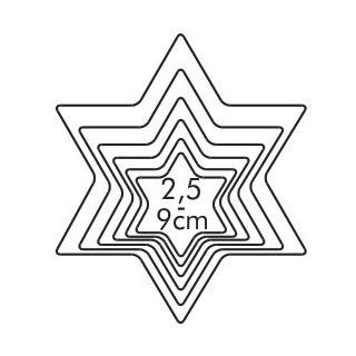 Wykrawacz gwiazdka - DELICIA -  6 szt.