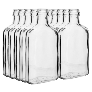 Zestaw butelek na nalewkę - piersiówka - 100 ml - 10 szt.