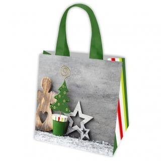 Torba z motywem świątecznym - 34 x 34 x 22 cm - Świąteczny Pejzaż