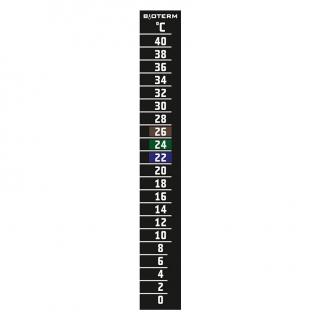 Termometr ciekłokrystaliczny - samoprzylepny - 20x145 mm