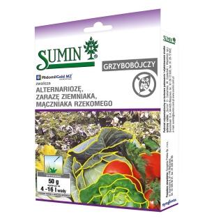 Ridomil Gold MZ Pepite 67,8 WG - na choroby grzybowe winorośli, tytoniu i warzyw - Sumin - 50 g