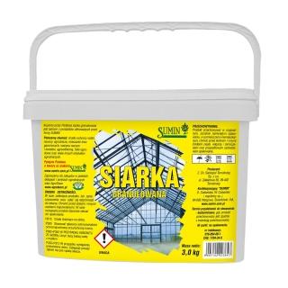 Siarka granulowana - do zakwaszania gleby i gazowania szklarni - 3 kg