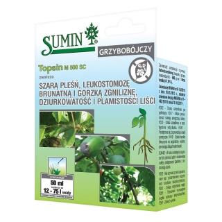Topsin M 500 SC - na mączniaka, szarą pleśń i inne choroby grzybowe - Sumin - 50 ml