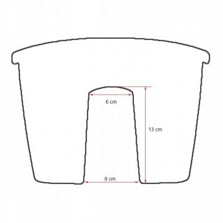 Skrzynka balkonowa do montowania na balustradach Crown - terakota - 24 cm