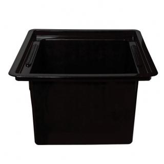 Wkład kwadratowy - czarny - do doniczek o boku 35 cm