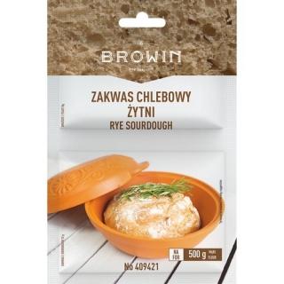 Zakwas chlebowy - żytni z drożdżami i słodem - 23 g