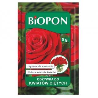 Odżywka do kwiatów ciętych w proszku - dłuższa świeżość roślin - BIOPON - 40 szt. - 200 g