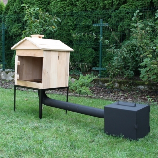 Wędzarnia ogrodowa z olchy - 50 x 50 x 50 cm - surowa