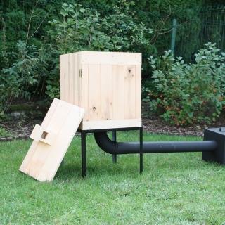 Wędzarnia ogrodowa z olchy - 50 x 50 x 60 cm - surowa