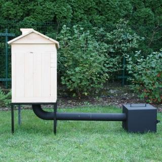 Wędzarnia ogrodowa z olchy - 50 x 50 x 70 cm - surowa