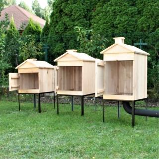 Wędzarnia ogrodowa z olchy - 50 x 50 x 50 cm - surowa - bez paleniska