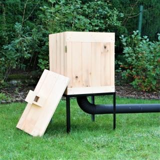 Wędzarnia ogrodowa z olchy - 50 x 50 x 60 cm - surowa - bez paleniska