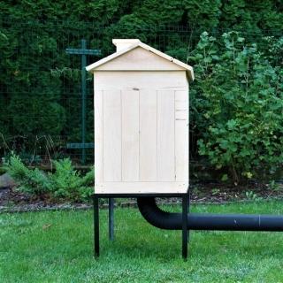 Wędzarnia ogrodowa z olchy - 50 x 50 x 70 cm - surowa - bez paleniska
