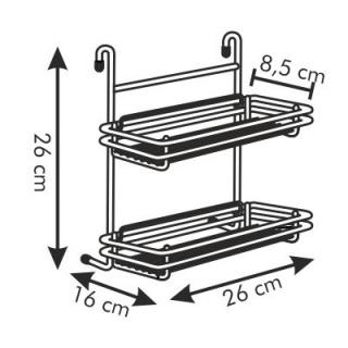 Półeczka dwupiętrowa - MONTI - 26 cm