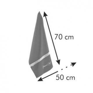 Ścierka GrandCHEF - czarna - 70 x 50 cm