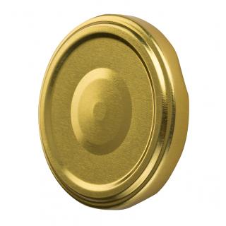 Słoiki zakręcane szklane, słoje - fi 82 - 500 ml ze złotymi zakrętkami - 8 szt.