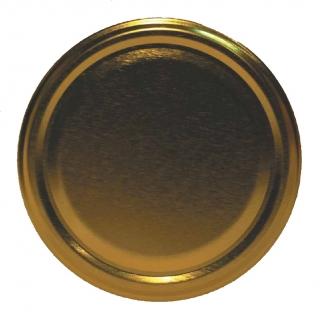 Słoik zakręcany szklany, słój - fi 100 - 2,65 l ze złotą zakrętą - 1 szt.