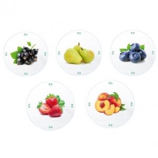 Zakrętka do słoików (gwint 6) - owoce na białym tle mix - śr. 82 mm