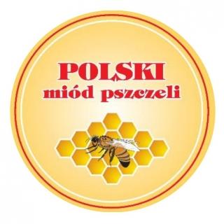 Zakrętka do słoików (gwint 6) - Polski miód - śr. 82 mm