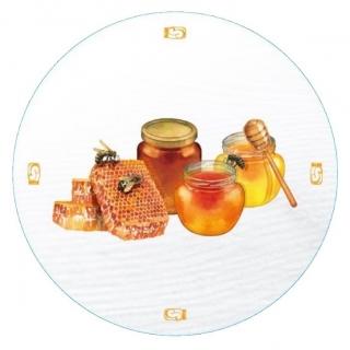 """Słoiki zakręcane szklane na miód - fi 82 - 250 ml z zakrętkami """"Słoiki miodu"""" - 8 szt."""