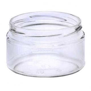 """Słoiki zakręcane szklane na miód - fi 82 - 250 ml z zakrętkami - """"Pszczoła na czarnym tle"""" - 8 szt."""