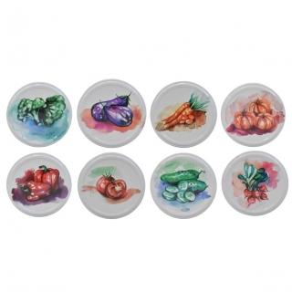 Słoiki zakręcane szklane na przetwory z warzyw - fi 82 - 250 ml z zakrętkami - 8 szt.