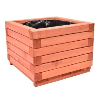 Donica z kantówki 40 x 40 x 30 cm - mahoń