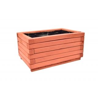 Donica z kantówki 60 x 40 x 30 cm - mahoń