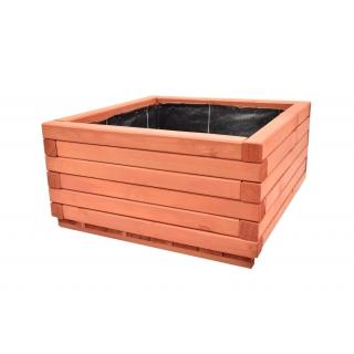 Donica z kantówki 60 x 60 x 30 cm - mahoń