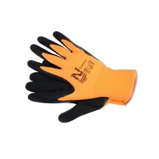 Rękawice ogrodnicze Comfort - pomarańczowe - cienkie i gładkie