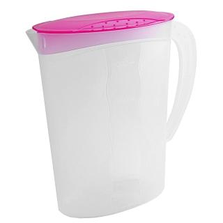 Dzbanek na sok z pokrywką - 2 litry - świeży różowy