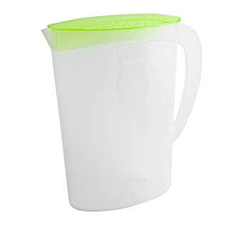 Dzbanek na sok z pokrywką - 2 litry - świeży zielony