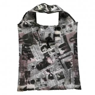 Składana torba na zakupy - 38 x 38 cm - gazeta