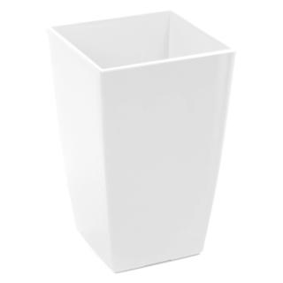 Osłonka kwadratowa wysoka Finezja - 12,5 cm - biała