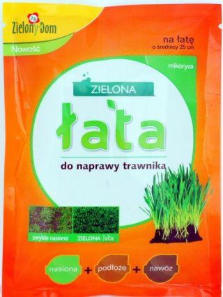 Zestaw do naprawy trawnika - Zielona Łata - nasiona + nawóz + podłoże + mikoryza
