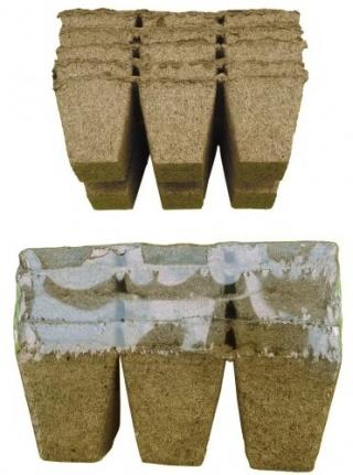 Doniczki torfowe kwadratowe 6x6 cm - 36 sztuk