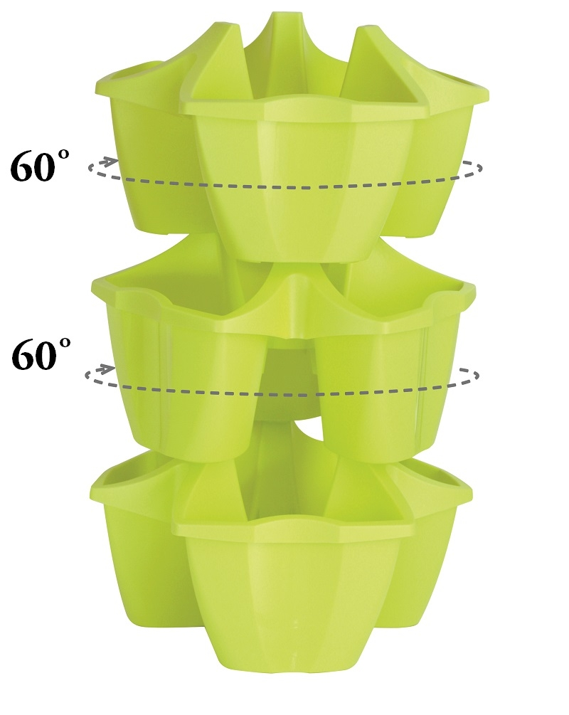 Doniczka Potrójna Do Kaskadowej Uprawy Roślin Crown Terakota